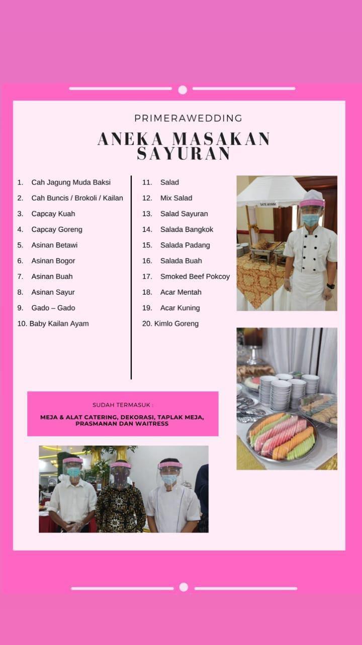 Paket Menu Catering Aneka Masakan Sayuran