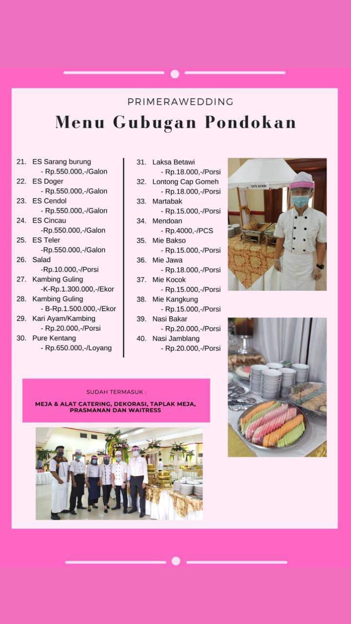 Paket Menu Catering Menu Gubug Pondokan 21 - 40
